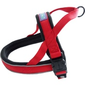 Hem & Boo - Reflective Padded Dog Harness - Red