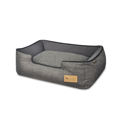 Shadow Grey Houndstooth Lounge Dog Bed 2