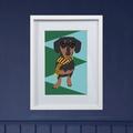 Framed Bespoke Pet Portrait