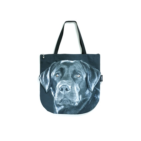 Bella the Black Labrador Dog Bag