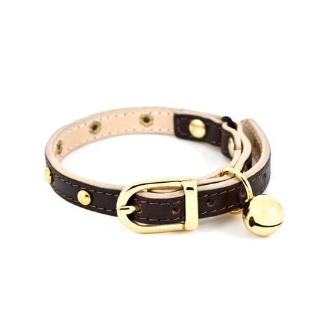 Chocolate Studded Cat Collar
