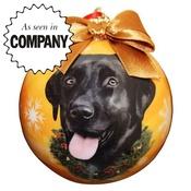 NFP - Black Labrador Christmas Bauble