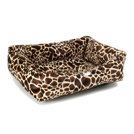 Giraffe Print Dog Bed