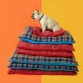 Henry Holland Blue Tartan Dog Bed 3