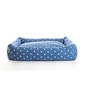Dotty Denim Lounge Dog Bed 2