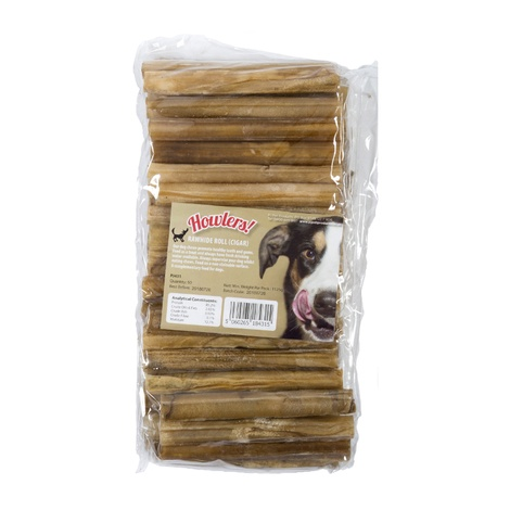 Howlers Natural Rawhide Rolls