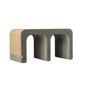 Catworks - Scratching Post - Letter M - Grey
