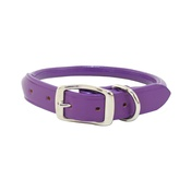 Auburn Leathercrafters - Rolled Leather Dog Collar – Purple