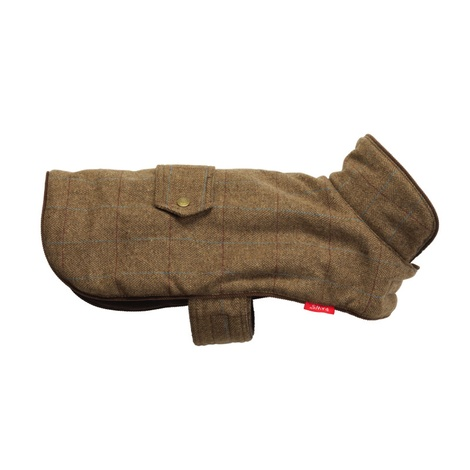 Tweed Dog Coat – Brown