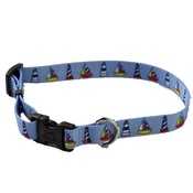 Yellow Dog - Sailboats and Lighthouses Collar