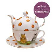 Laura Lee Designs - Cats Tea For One Set