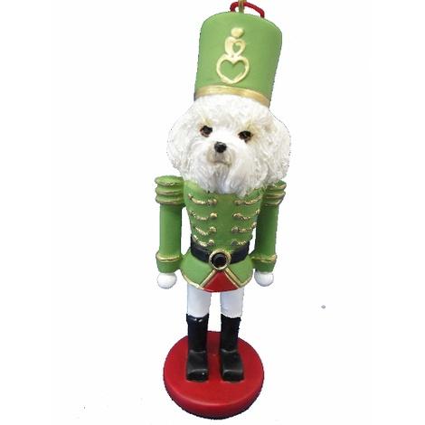 Bichon Frise Nutcracker Soldier Ornament