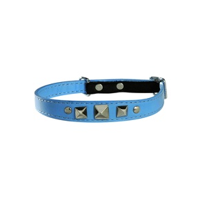 Rock Leather Cat Collar – Blue