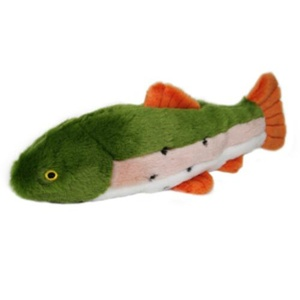 Fluff & Tuff Plush Dog Toy – Ruby the Rainbow Trout