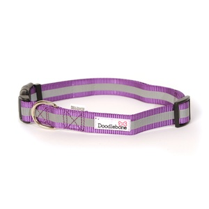 Bold Reflective Dog Collar – Purple