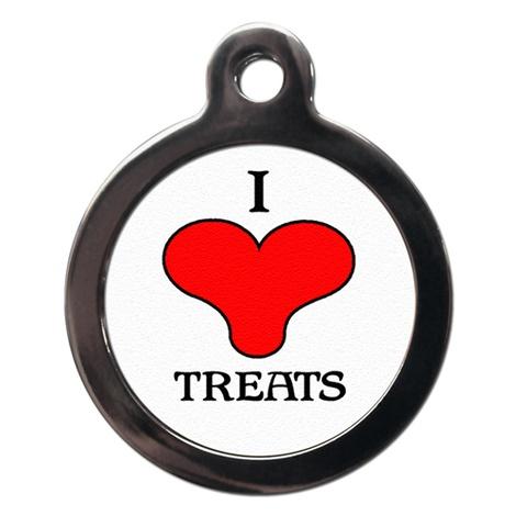 I Love Treats Pet ID Tag