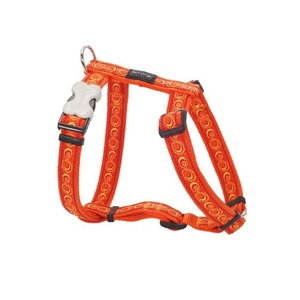 Orange Cosmos Dog Harness