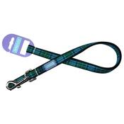 Hem & Boo - Tartan Adjustable Dog Lead - Blue
