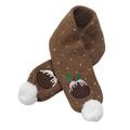 Christmas Pudding Dog Scarf