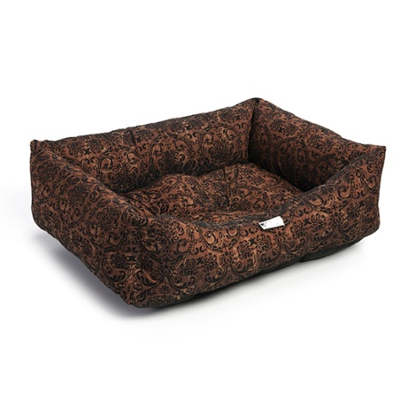 Bronze Flock Dog Bed