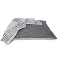 Personalised Grey Denim Dog Bed 7