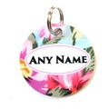 Ditsy Pet Rose ID Tag