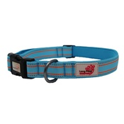 Long Paws - Comfort Padded Dog Collar – Blue