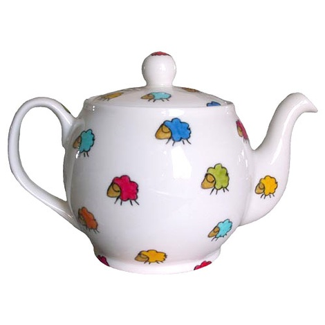 Sheep Print 6 Cup Teapot