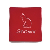 My Posh Paws - Personalised Christmas Cat Blanket – Red