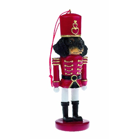 Black Dachshund Nutcracker Soldier Ornament