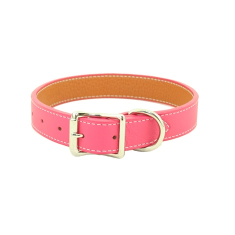 Tuscany Leather Dog Collar – Pink
