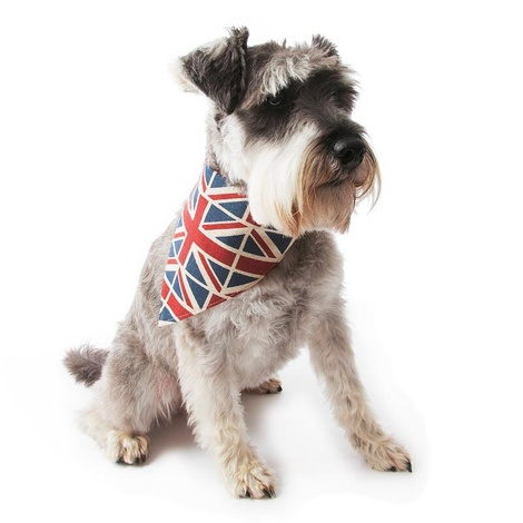 Union Jack Linen Dog Neckerchief