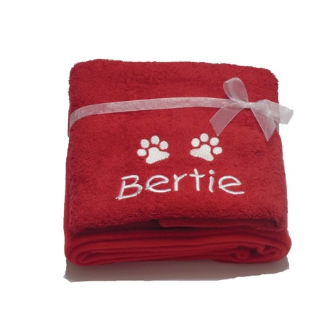 Personalised Santa Paws Gift Set – Red