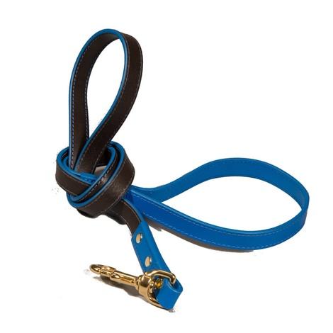 Pimlico Leather Dog Lead – Black & Blue