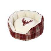 House of Paws - Rustic Tweed Oval Dog Bed
