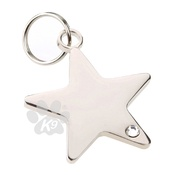 K9 - K9 Rhinestone Star Dog ID Tag