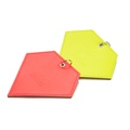 Leather Diamond Poo Bag Pouch - Neon Yellow 2