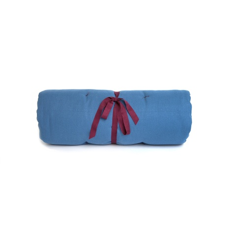 Plain Dog Roll Bed - Blue 2