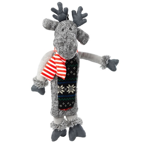 Silent Night Stuffing Free Reindeer Dog Toy