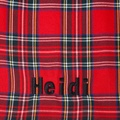 Personalised Red Tartan Dog Coat 5