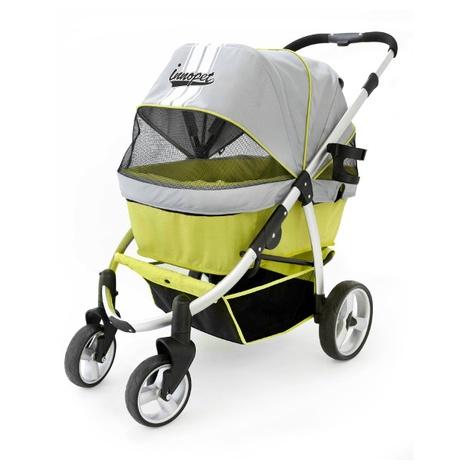Retro Dog Buggy - Grey/Lime