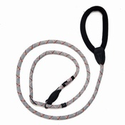 Long Paws - Comfort Padded Slip Leash - Grey