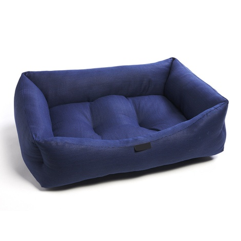 Navy Birdseye Dog Bed