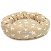 Mutts & Hounds - French Grey Donut Bed