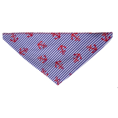 Anchors Away Dog Bandana  2