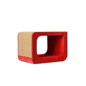 Catworks - Scratching Post - Letter O - Red