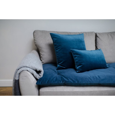 Plush Velvet Sofa Topper - Teal 2
