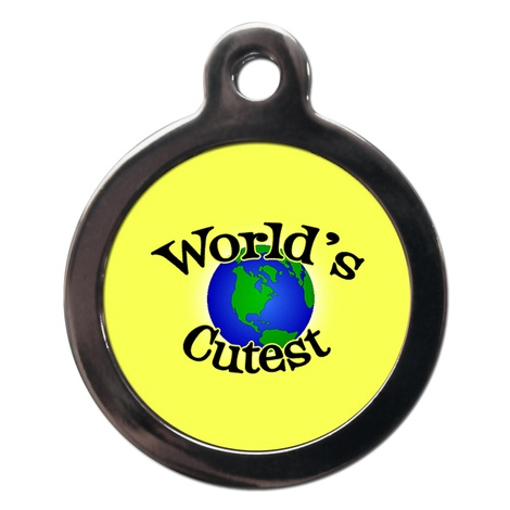 World's Cutest Dog ID Tag