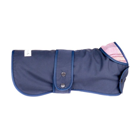 Pink Shetland Wool Waxed Dog Coat