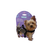 Hem & Boo - Black Nylon Harness Set